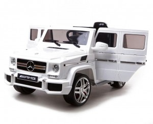 Детский электромобиль Harleybella Mercedes-Benz G63 Luxury 2.4GHz White фото