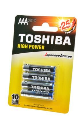 Батарейка TOSHIBA High Power LR03GCP BP-4 LR03 BL4 фото