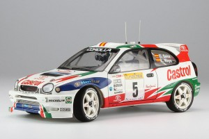Сборная модель автомобиля Toyota Corolla WRC 1998 Monte Carlo Rally Winner Limited Edition 1:24 фото