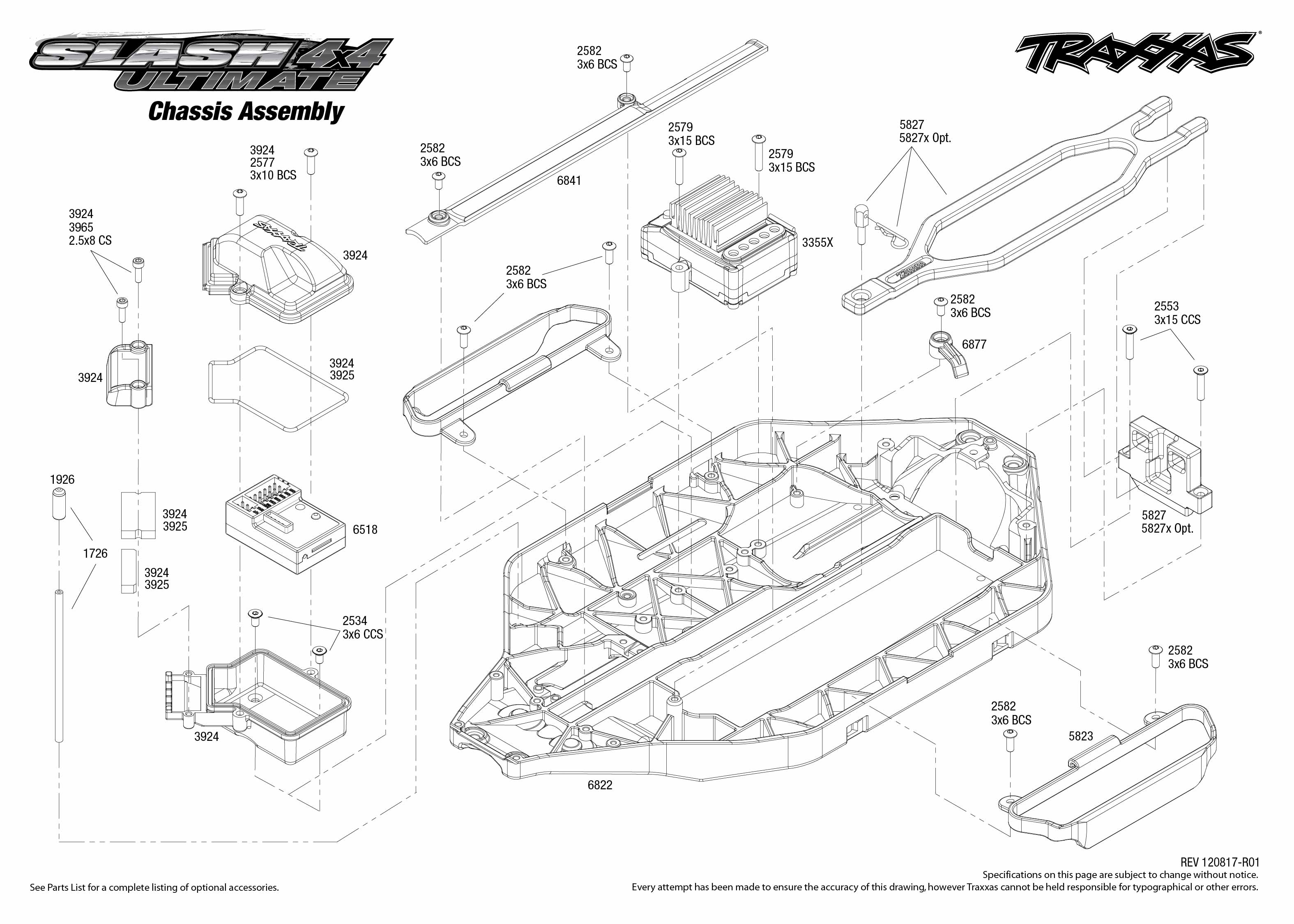 traxxas 1 16 e revo parts diagram